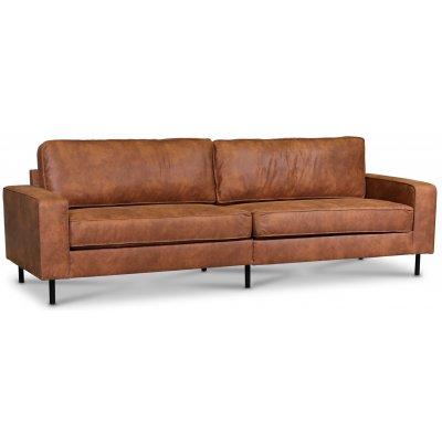 Sandö 3,5-seter sofa 260 cm - Cognac økolær