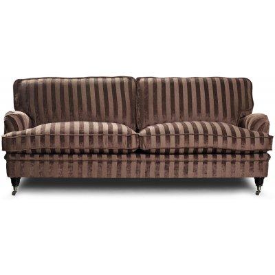 Howard Sir William 3-seter sofa (Dun) - Mobus Chocolate Stripe