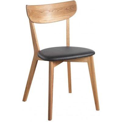 Hannah stol - Eik/svart kunstskinn