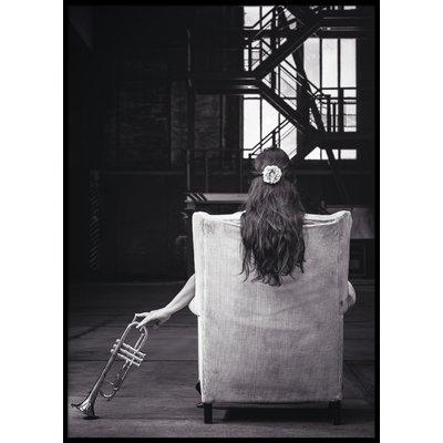 TRUMPET GIRL - Plakat 50x70 cm