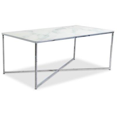Palasso sofabord 110 cm - Krom / Lys marmorering