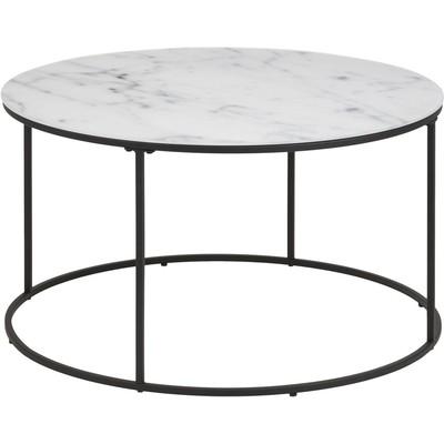Bolton salongbord - Hvit marmor/svart