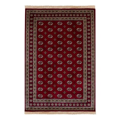Kunstsilketeppe Puri - Rød