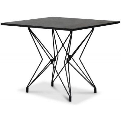 Zoo spisebord 90x90 cm - Svart / Granitt