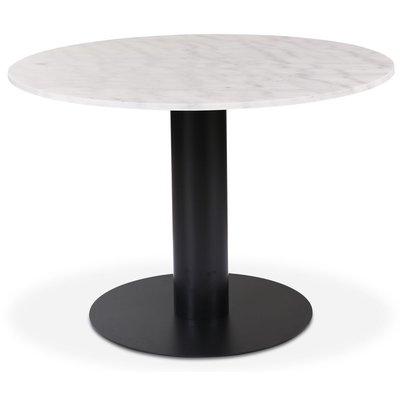 Next 105 rundt spisebord - Svart / marmor (Hvit)