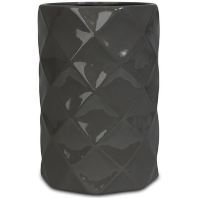Vase Romb H22 cm - Grå