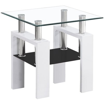 Sofabord Clemson D - Hvit/svart