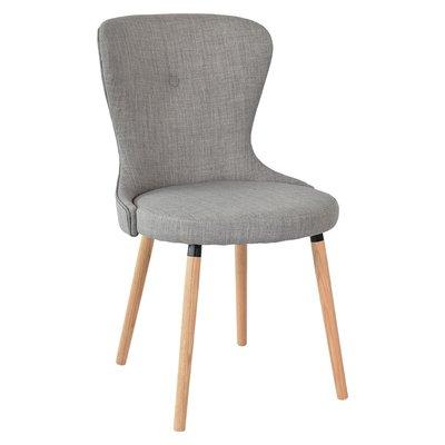 Boogie stol med eik ben - Grått tøy