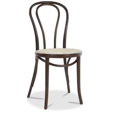 Bentwood Stol No18 Klassiker med rottingsete - Brun