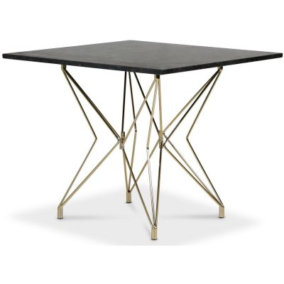 Zoo spisebord 90x90 cm - Messing / Granitt