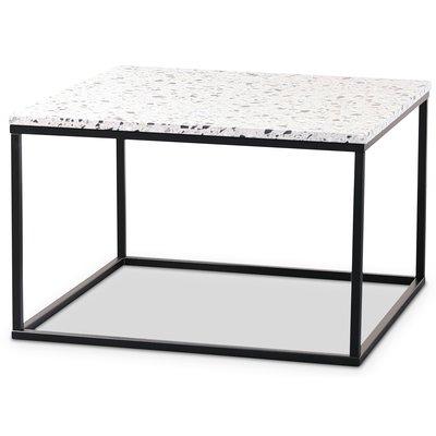 Terrazzo sofabord 75x75cm - Cosmos Terrazzo & underdel svart
