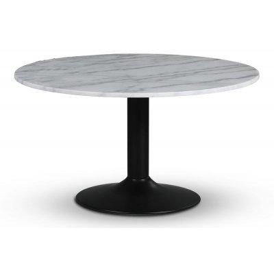 Empire spisebord - Lys marmor / Svart trompetfot