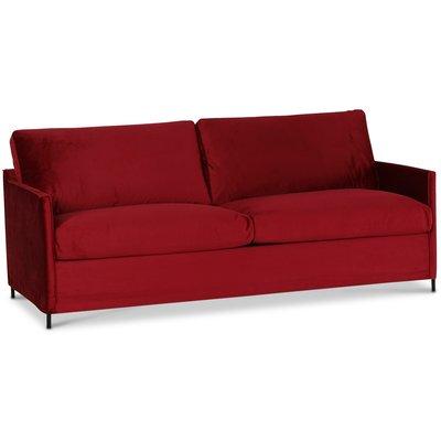 Petit 3-seter sofa løst trekk - Rød (fløyel)