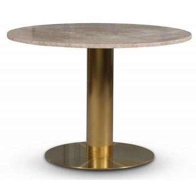 Empire spisebord - Empradore marmor / Børstet messing