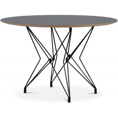 Zoo spisebord Ø118 cm - Svart / Mørk Virrvarr Perstorp