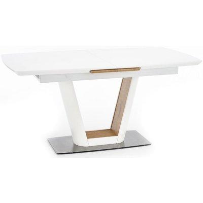 Vickie spisebord - Hvit/eik