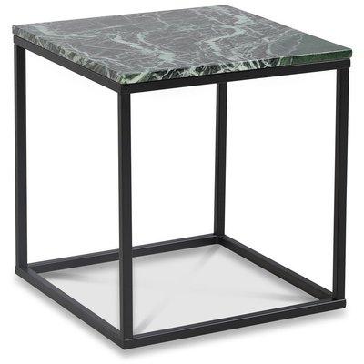 Accent stuebord 50 - Grønn marmor / Svart