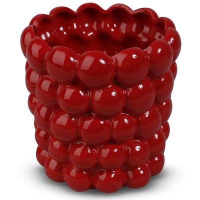 Krukke Big Bouble H16 cm - Rød