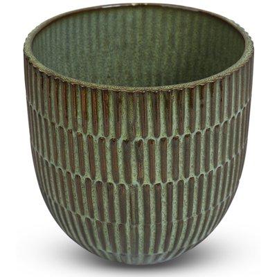 Krukke Dreie H14,5 cm - Grønn
