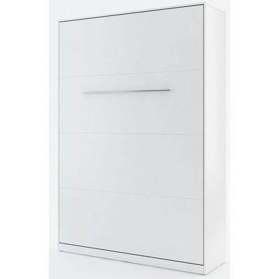 Sengeskap compact living vertikalt (140 x 200 cm fellbar seng) - Hvit