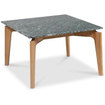 Accent stuebord 75 - Grønn marmor / eik