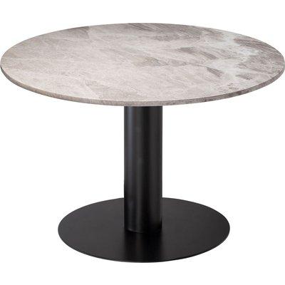 Next 105 rundt spisebord - Svart / Marmor (Beige)