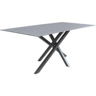 Spisebord Höganäs 180 cm - Svart / Sprayglas