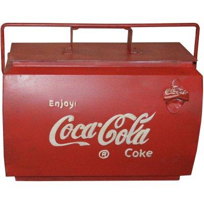 Coca Cola vintage oppbevaringsboks med håndtak - Metall