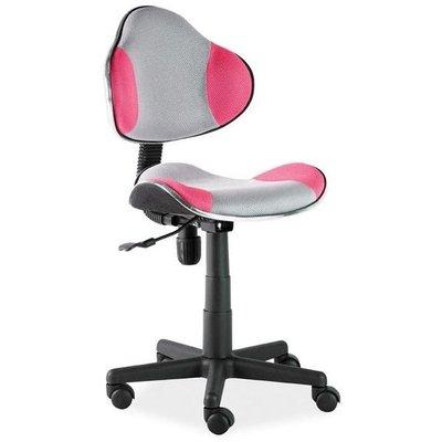 Skrivebordstol Carla - Rosa/grå