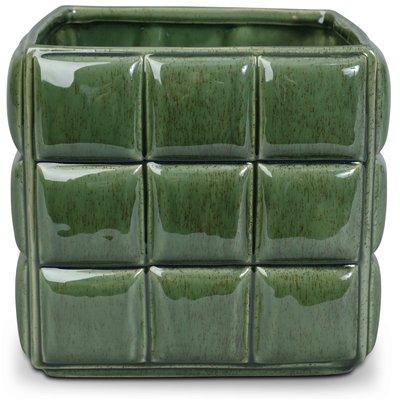 Krukke Chess H17 cm - Grønn