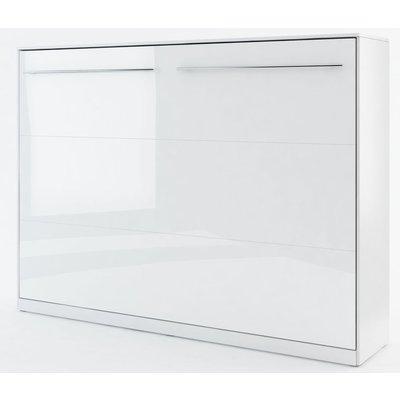 Sengeskap compact living horisontalt (140 x 200 cm fellbar seng) - Hvit høyglans