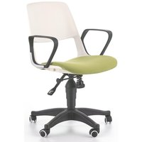 Thorvald kontorstol - Hvit/grønn