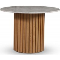 Sumo spisebord Ø105 cm - Oljet eik / Sølvmarmor