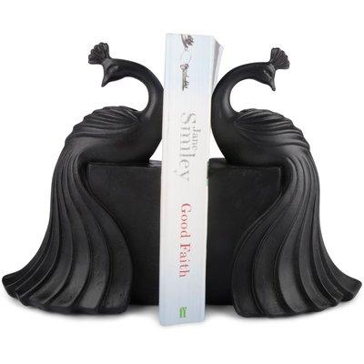 Bokstøtte Påfugler - Svart