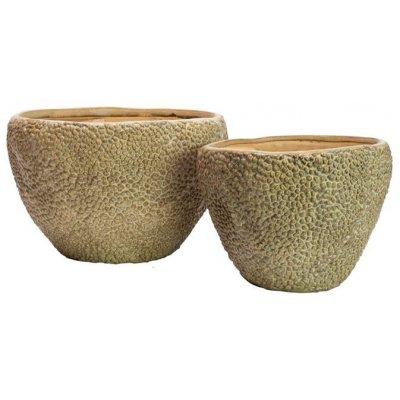 Kobe sett med 2 stk krukker lave - Keramikk