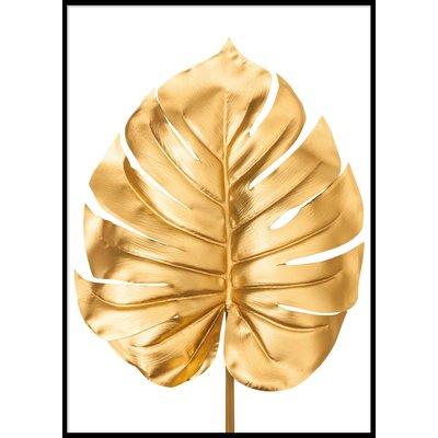 GOLDEN MONSTERA - Plakat 50x70 cm