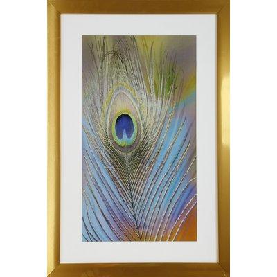 Maleri med søt ramme (Påfugl) - 40x60