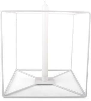 Vegglysestake kube - Hvit