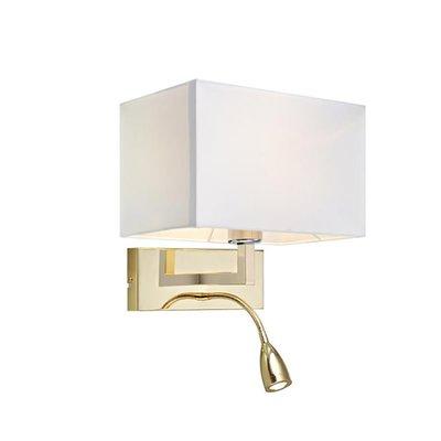 Savoy Vegglampe - Messing/Hvit