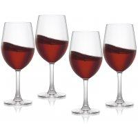 Pure & Simple rødvinsglass i krystall - 4 stk.