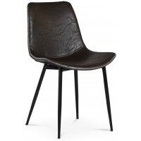 Madrid stol - Svart/brun