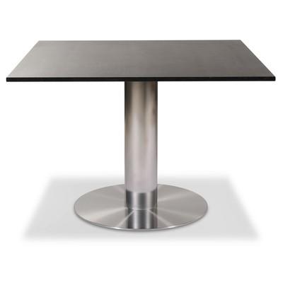 Next 108 cm spisebord - Børstet stål / Marmor (Donau Granitt)