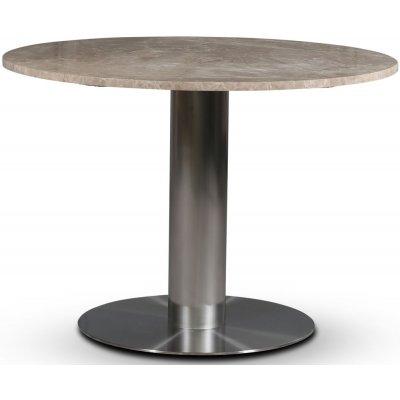 SOHO spisebord Ø105 cm - Børstet aluminium / Beige Empradore