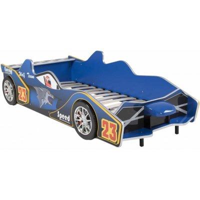 Barneseng Formel F1 med belysning - Blå