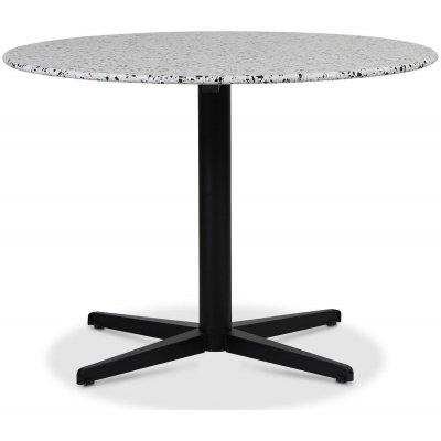 SOHO spisebord Ø105 cm - Matt svart kryssfot / Terrazzo Cosmos