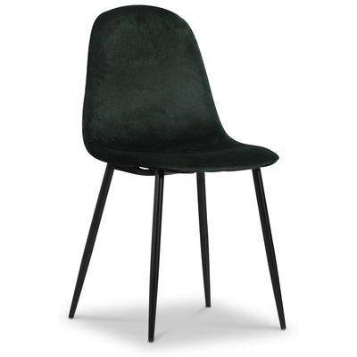 Carisma stol - Mørkegrønn fløyel