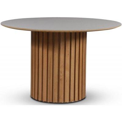 Sumo spisebord Ø118 cm - Oljet eik / Perstorp lys virrvarr