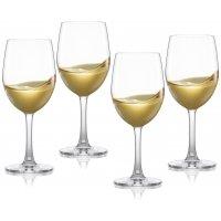 Pure & Simple hvitvinsglass i krystall - 4 stk