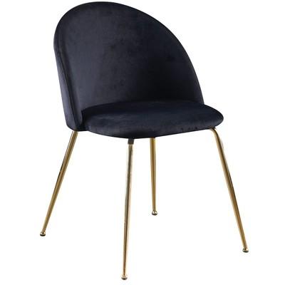 Art velvet stol - Svart / Messing