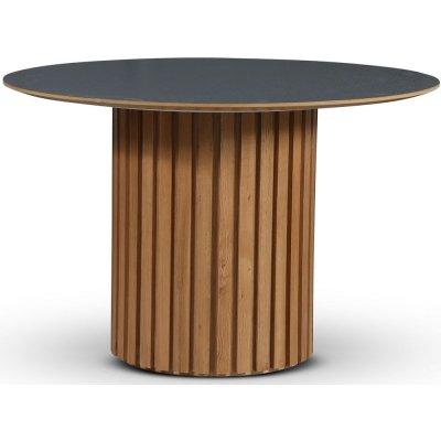 Sumo spisebord Ø118 cm - Oljet eik / Perstorp mørkegrå virrvarr